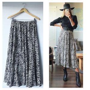 Handmade Zebra Animal Print 100% Rayon Maxi Dress